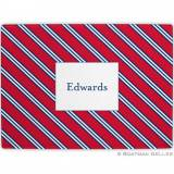Repp Tie Red & Navy Glass Cutting Board