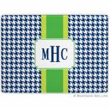 Alex Houndstooth Navy Glass Cutting Board