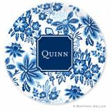 Boatman Geller Personalized Floral Plate