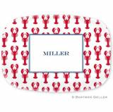 Personalized Lobsters Red Melamine Platter  . . .