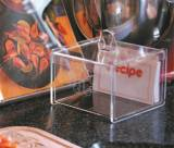 Monogrammed Acrylic Recipe Box