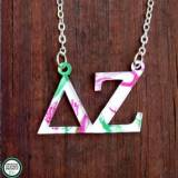 Sorority Pattern Acrylic Necklace