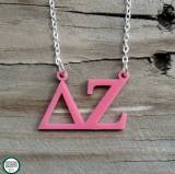 Greek Delta Zeta Acrylic Necklace