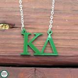 Sorority Kappa Delta Acrylic Necklace