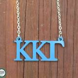 Greek Kappa Kappa Gamma Acrylic Necklace
