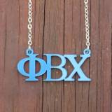 Greek Phi Beta Chi Acrylic Necklace