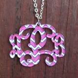 Monogram Custom Necklace Cut Vine Font  . . .
