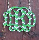 Monogram Necklace Floating Vine Script  . . .
