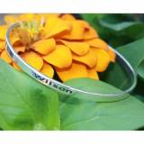 Engraved Bangle Bracelet