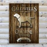 Monogrammed Canvas Rustic Wood Cabin Print  . . .