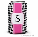 Personalized Alex Houndstooth Black Can  . . .