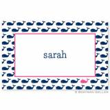 Boatman Geller Personalized Whale Placemat