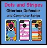 Custom Dots And Stripes OtterBox Commuter  . . .