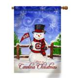 Collegiate Christmas Snowman House Flags