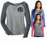 Monogrammed  Ladies Long Sleeve Raglan Tee  . . .