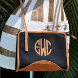 Queen Bea Monogrammed Canvas And Leather  . . .
