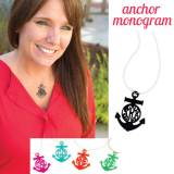 Monogrammed Necklace With Acrylic Anchor