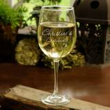 Monogrammed Connoisseur White Wine Glass