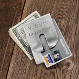Monogrammed Money Clip And Card Holder