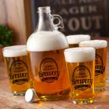 Personalized Beer Brewery Growler Set
