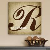 Personalized Calligraphy Monogram Canvas  . . .
