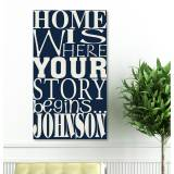 Personalized Canvas Sign Where Our Story  . . .