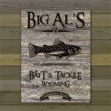Personalized Canvas Sign Weathered Wood  . . .
