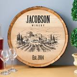 Personalized Wine Barrel Sign In Seven  . . .