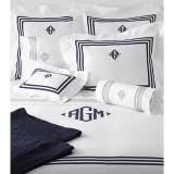 Matouk Newport Monogrammed Bedding Collection