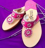 Linaria With Platinum Palm Beach Sandals