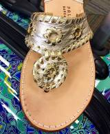 Platinum With Gold Palm Beach Sandals