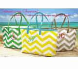 Monogrammed Chevron Totes Large Or Small