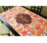 "Monogrammed Table Runner 27.5"" X 78.5""  . . ."