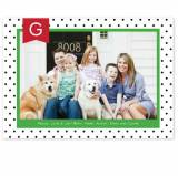Personalized Dottie Black Flat Photocard
