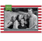 Personalized Stripe Red Flat Photocard