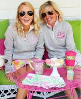 Monogrammed Ladies Charles River Sweater  . . .