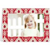 Mia Ikat Red Folded Photocard