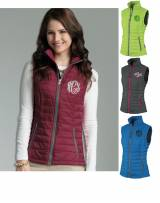 Monogrammed Ladies Radius Quilted Vest In  . . .