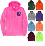 Monogrammed Preppy Full Zip Hooded  . . .