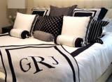 Monogrammed Hand Knit Blankets In Two Sizes