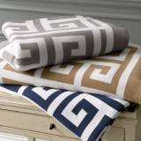 Matouk Arcadia Greek Key Design Throw