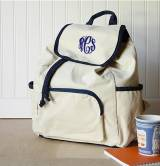 Monogrammed Canvas Backpack