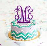 Monogrammed  Cake Topper For Special  . . .