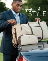 Monogrammed Mens Canvas Toiletry Bag