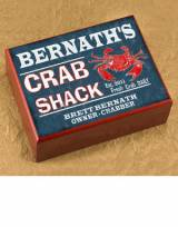 Personalized Cigar Humidor Crab Shack