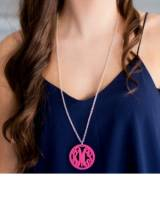 Monogrammed Ava Acrylic Necklace In  Script