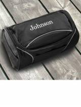 Monogrammed Travel Bag Black Clever Canvas
