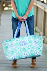 Monogrammed Sea Tile Ultimate Carry All Tote