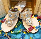 Cork And Silver Trim Classic Sandals