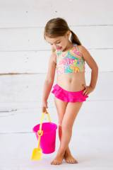 Monogrammed Summer Paisley Girl s Swimsuit  . . .
